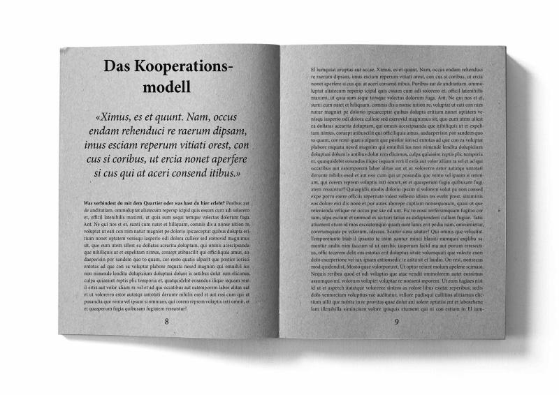 Murifeldbuch; Illustration einer Doppelseite des Kapitels Kooperationsmodell