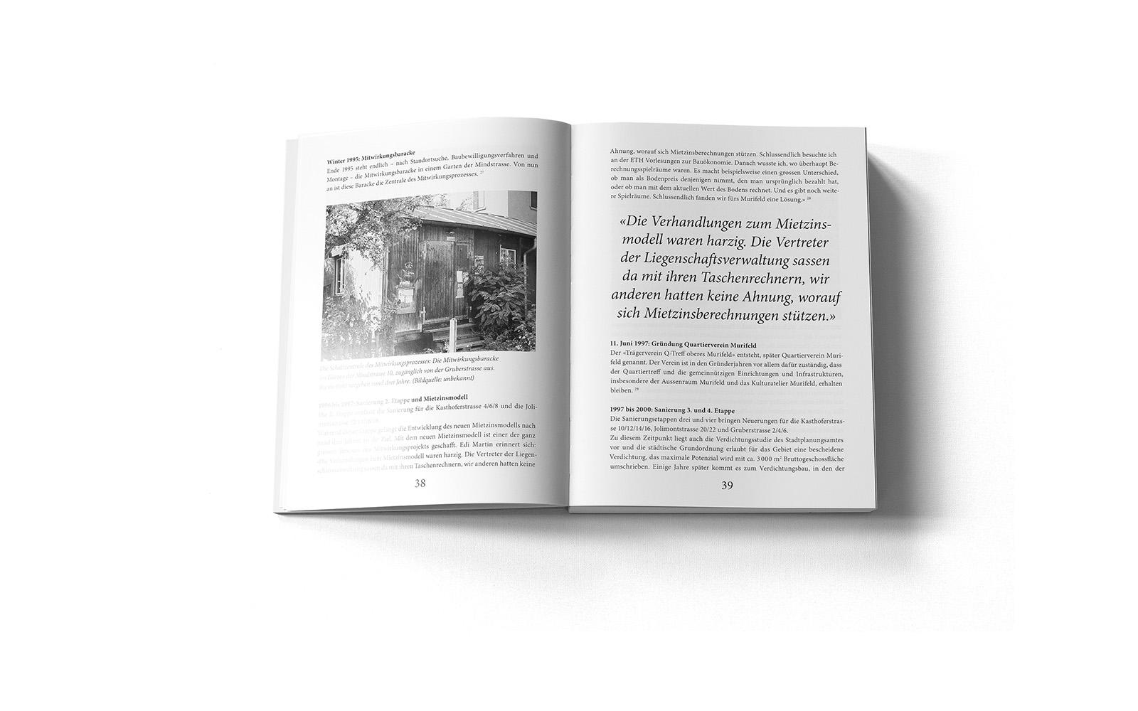 Doppelseite aus dem Murifeldbuch aus dem Kapitel Geschichte (Sonderausgabe)