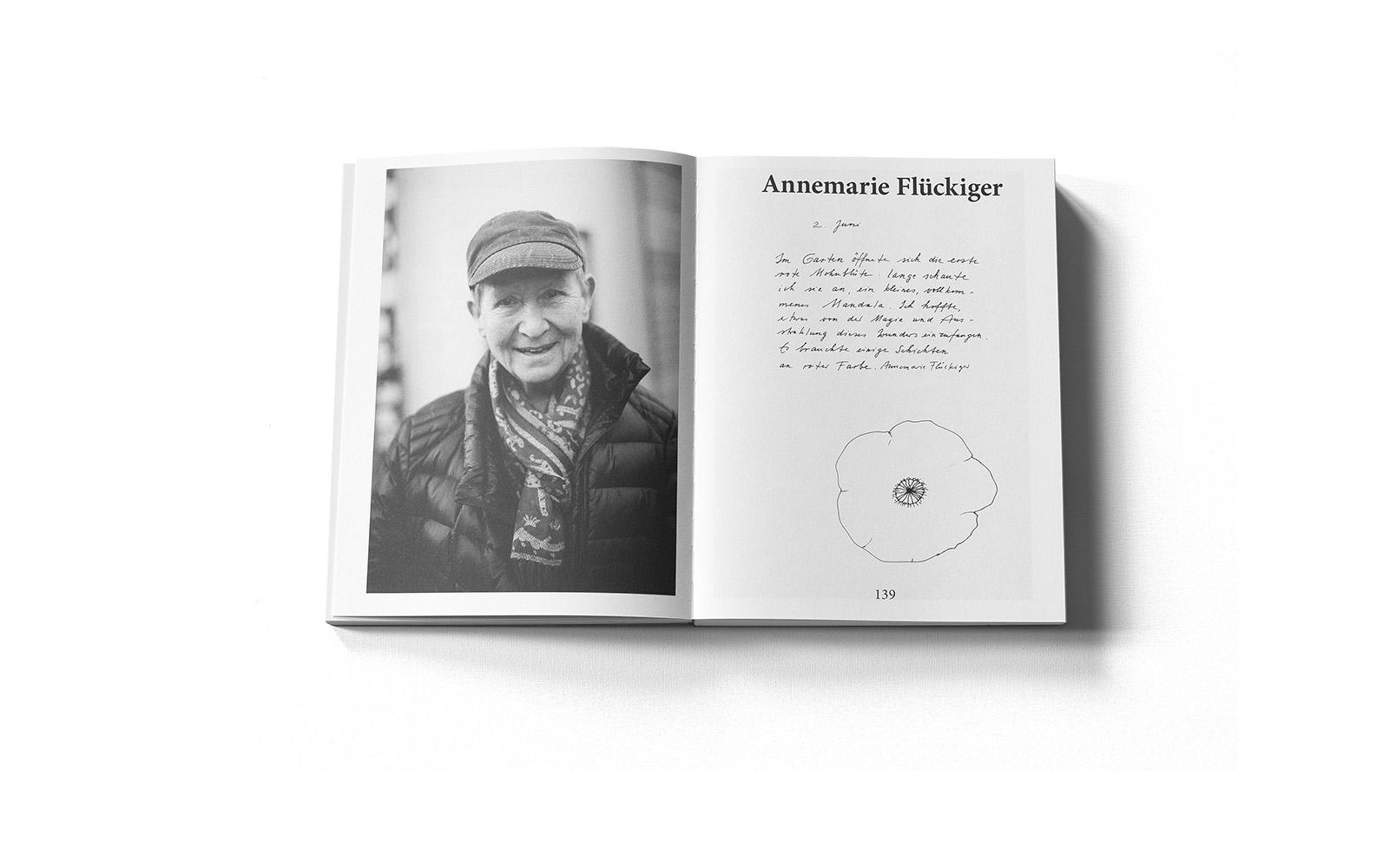 Portraitseite aus der Sonderausgabe des Murifeldbuches